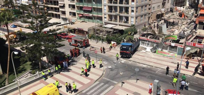 В Лос-Кристианос (Тенерифе) обрушилось здание