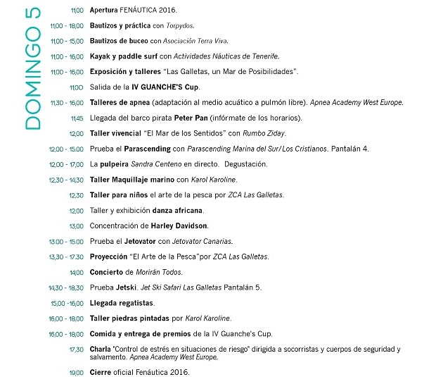 Программа ярмарки Fenautica 2016