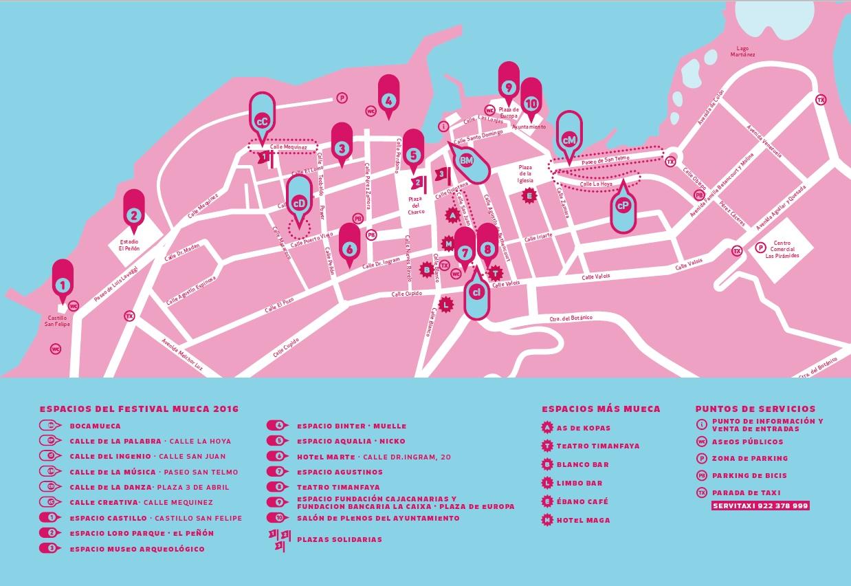 Карта площадок фестиваля Mueca