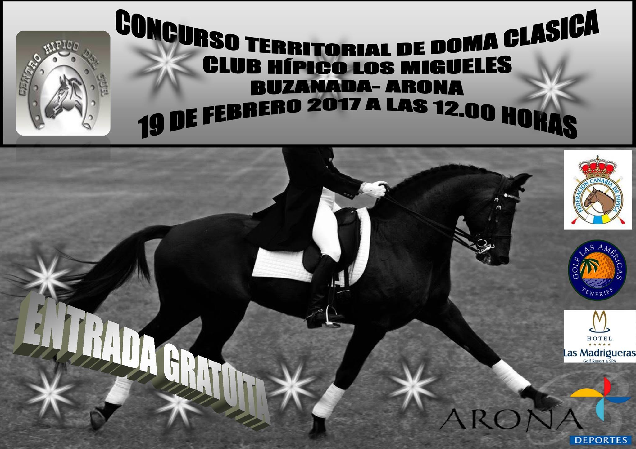 Соревнования по конному спорту (выездке) на Тенерифе 2017 (Бусанада)