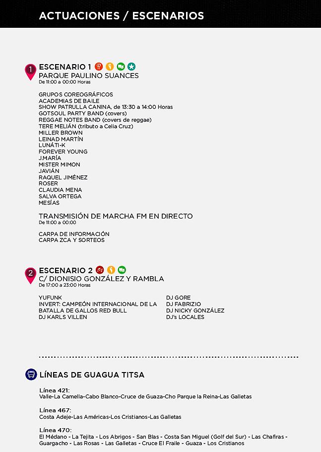 Программа фестиваля Arona en Colores 2017